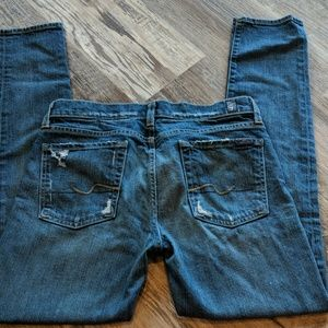 Distressed 7 For All Mankind Jeans